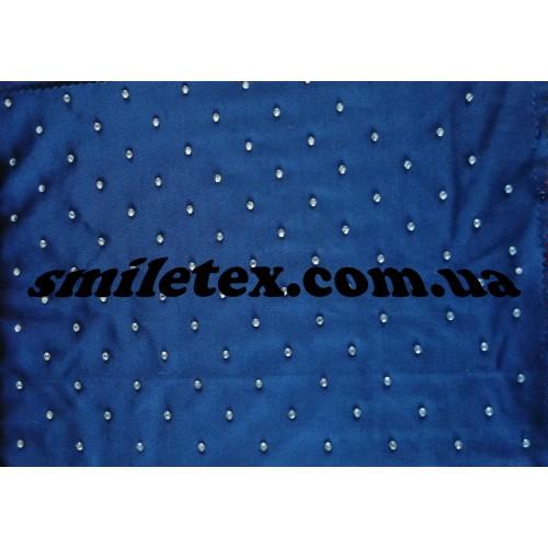 Трикотаж Стразы (Синий с белым)
