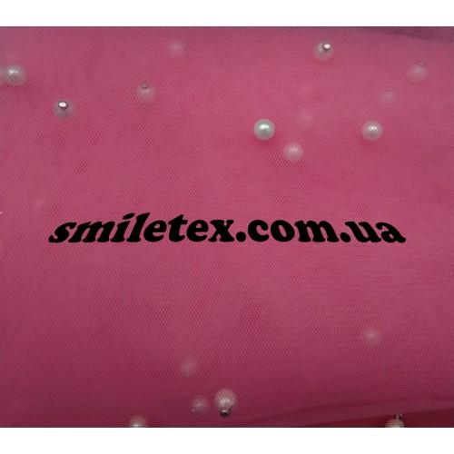 Бусинки на мягкой сетке (Розовый)