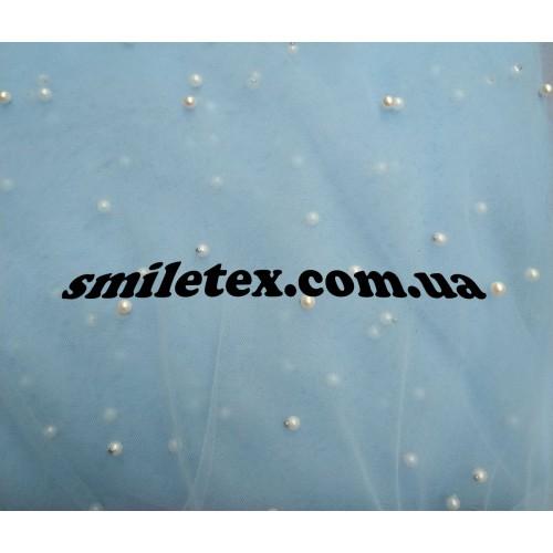 Бусинки на мягкой сетке (Голубой)