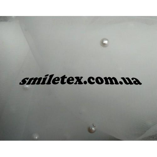 Бусинки на мягкой сетке (Белый)