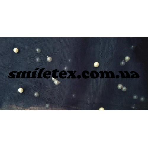 Бусинки на мягкой сетке (Синий)