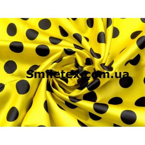 Атлас Горох (Жёлтый Чёрный)20мм