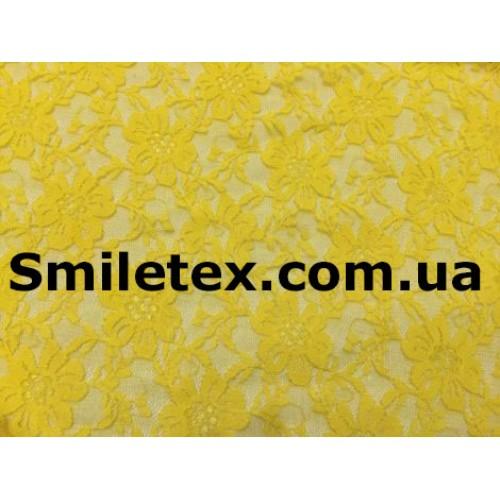 Гипюр Стрейч (Дешевый) Диз2. Цвет Желтый №12