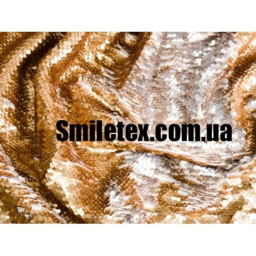 Пайеточная Ткань Двухсторонняя ( Серебро Бронза)