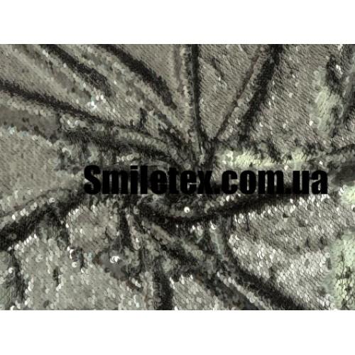 Пайеточная Ткань Двухсторонняя ( Серебро Матовая Глянцевая )