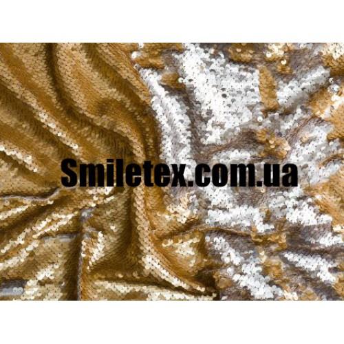 Пайеточная Ткань Двухсторонняя (Серебро Золото)