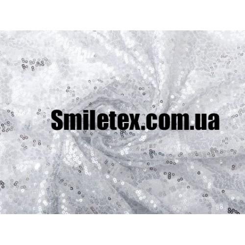 Пайеточная Ткань Густая (Белый)