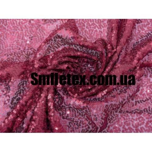 Пайеточная Ткань Густая (Бордовый)