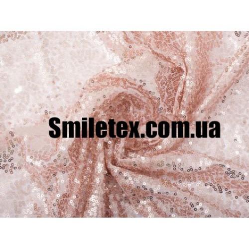 Пайеточная Ткань Густая (Бронза)