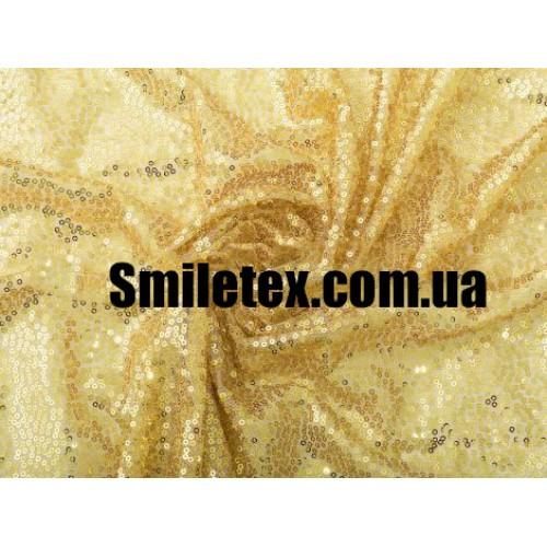 Пайеточная Ткань Густая (Золото)