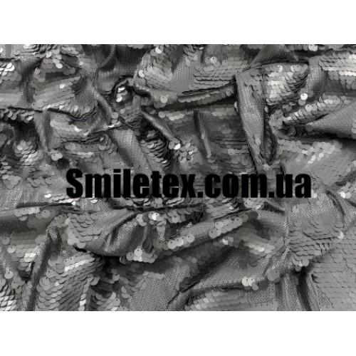 Пайеточная Ткань Трикотаже Дизайнернаская (Чёрный)