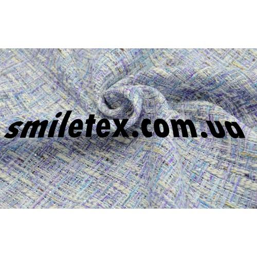 Ткань  Рогожка пайетка (Лиловый 17102) 7153