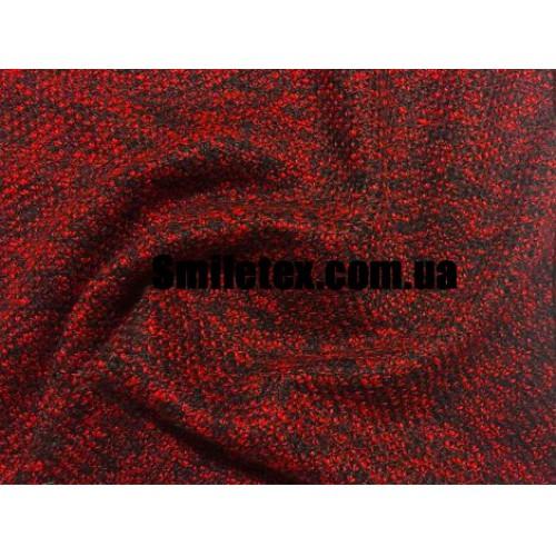 Трикотаж Букле Шерсть (Красный)