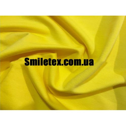 Трикотаж Двунитка (Жёлтый)
