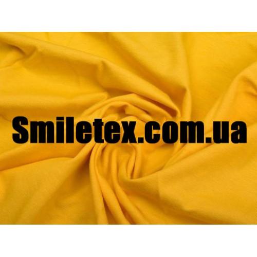 Трикотаж Хлопок Кулир (Жёлтый)