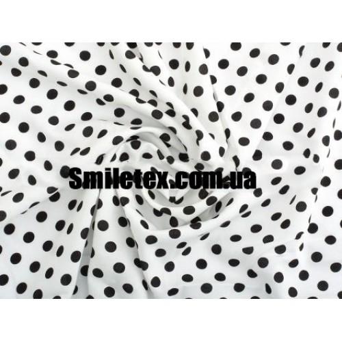 Штапель Горох Белый Фон-Чёрный Горох 10мм