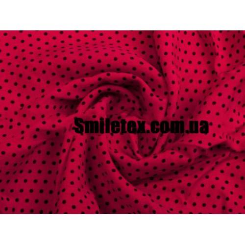 Штапель Горох Красный Фон-Тёмо Синий Гнорох 2мм