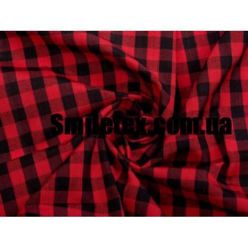 Рубашечная Клетка (Красный Чёрный 10мм)