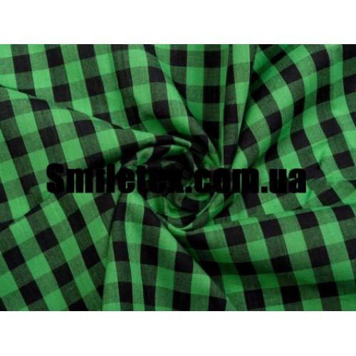 Рубашечная Клетка ( Трава Чёрный 10мм)
